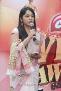 Anchor Ramya at Vijay Awards Rasigan Express Bus Flag Off Stills