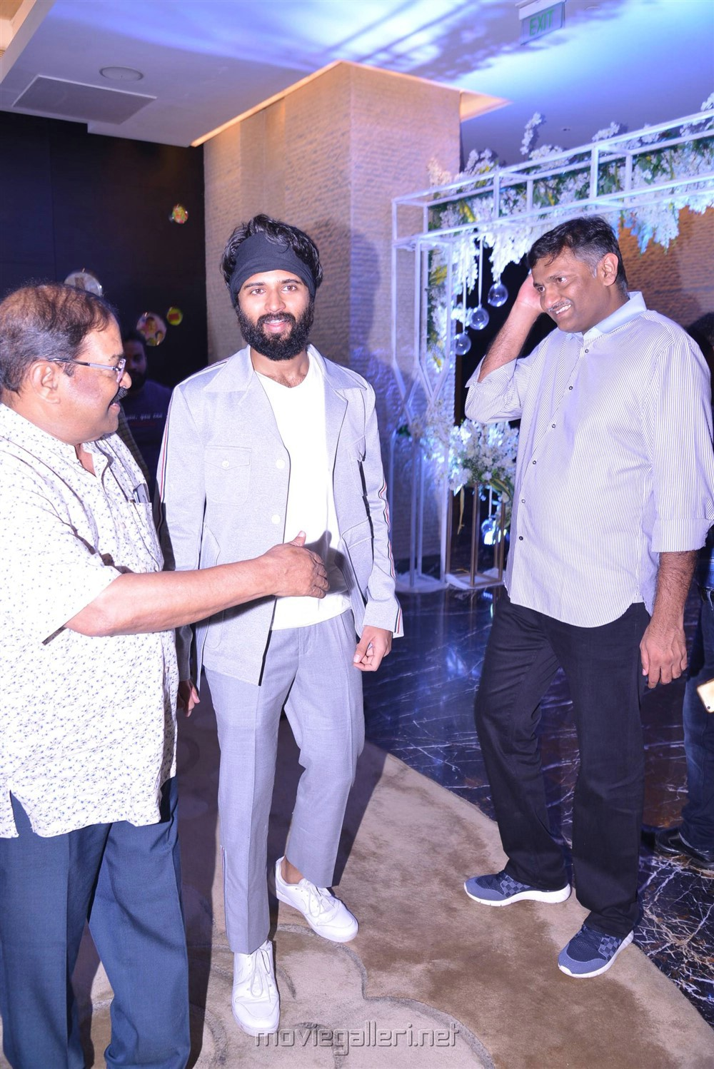KS Rama Rao, Vijay Devarakonda, Naveen Yerneni @ Creative Commercials Production No 46 Movie Launch Stills