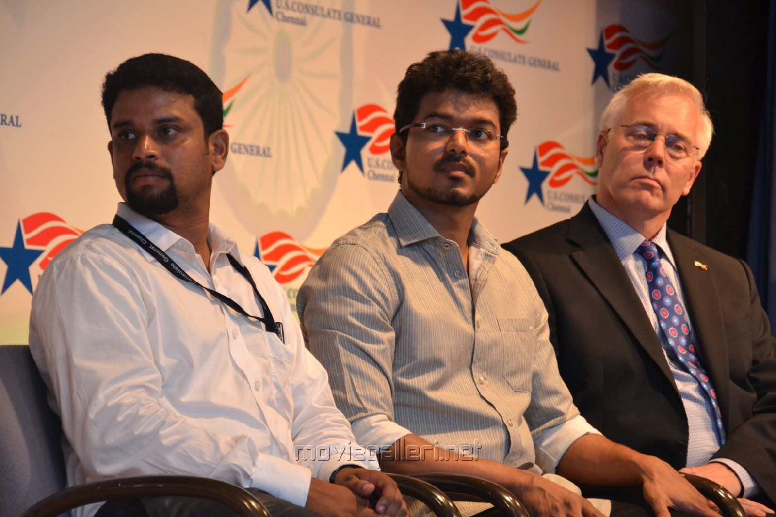 Picture Actor Vijay Planted Sapling US Consulate - Us consulate chennai map