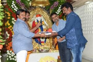 AM Rathnam, Lingusamy @ Vijay Sethupathi Panneerselvam Movie Pooja Stills