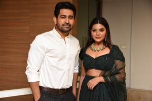 Vijay Antony, Aathmika @ Vijaya Raghavan Pre Release Event Stills