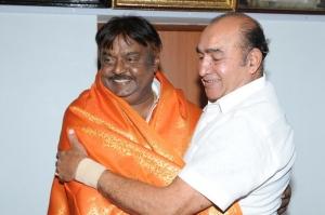 Actor Vijayakumar Congratulated Vijayakanth Pictures Images
