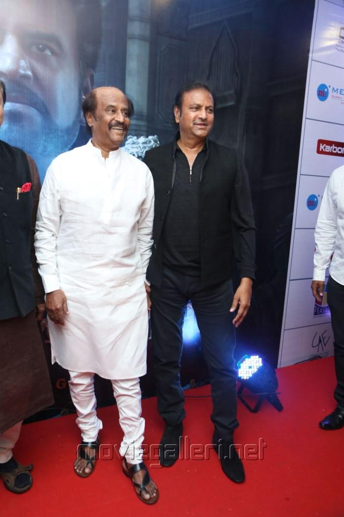 Rajinikanth, Mohan Babu @ Vikrama Simha Curtain Raiser Photos in Hyderabad