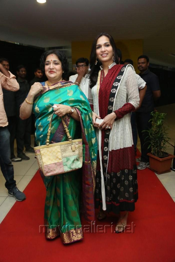 Latha rajinikanth, Soundarya R.Ashwin @ Vikrama Simha Curtain Raiser Photos in Hyderabad