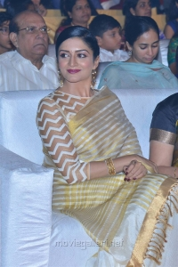 Vimala Raman in Saree Stills @ Om Namo Venkatesaya Audio Launch