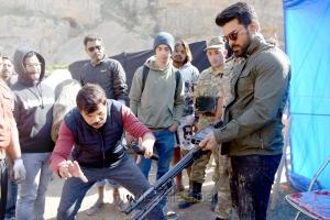 Boyapati Srinu, Ram Charan @ Vinaya Vidheya Rama Movie Working Stills