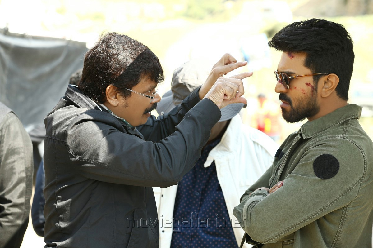 Boyapati Srinu, Ram Charan @ Vinaya Vidheya Rama Movie Working Stills