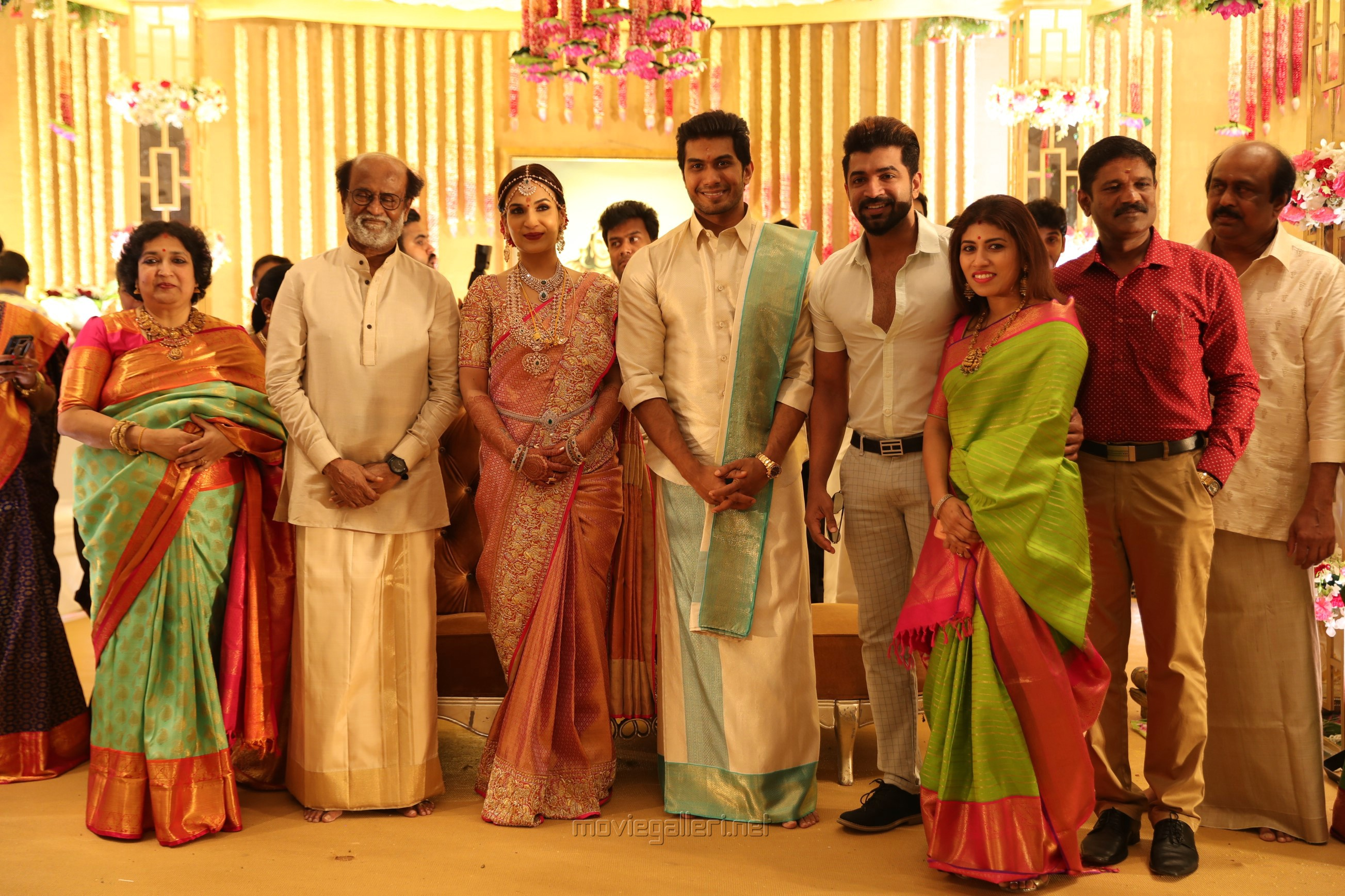 Arun Vijay, Aarthi Mohan @ Vishagan Soundarya Rajinikanth Marriage Photos HD