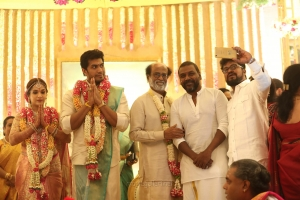 Rajinikanth, Raghava Lawrence @ Vishagan Soundarya Rajinikanth Marriage Photos HD