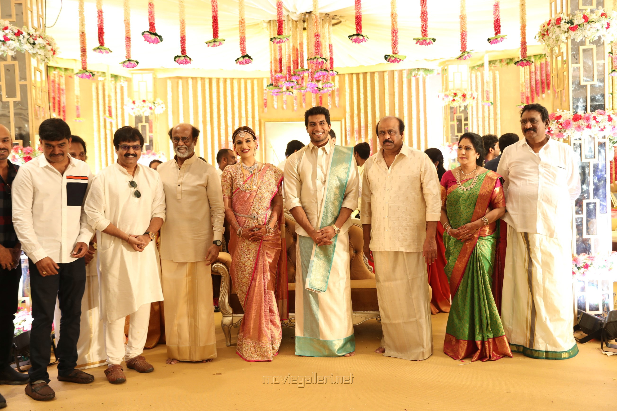 Cell Murugan, Vivek @ Vishagan Soundarya Rajinikanth Marriage Photos HD