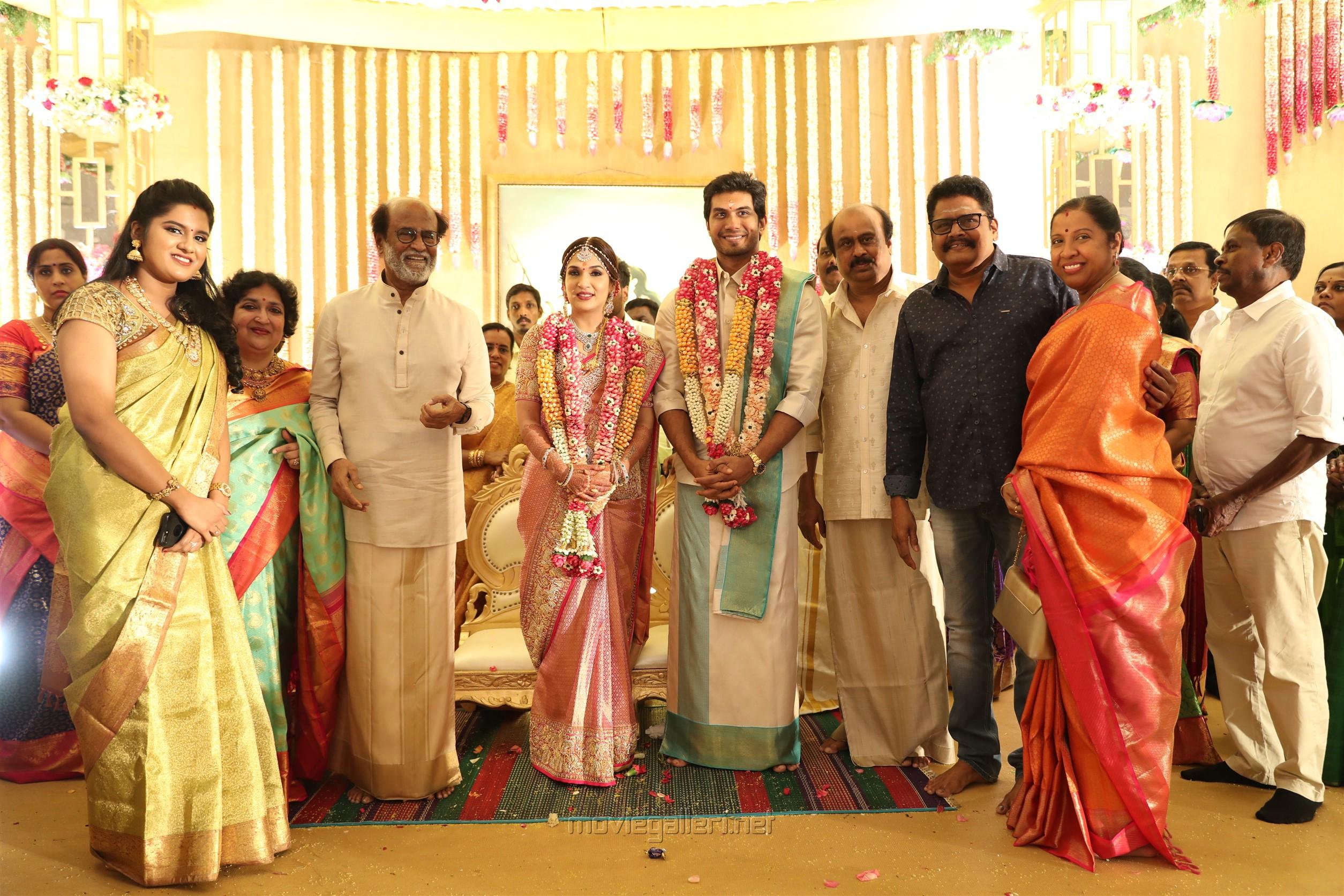 KS Ravikumar @ Vishagan Soundarya Rajinikanth Marriage Photos HD