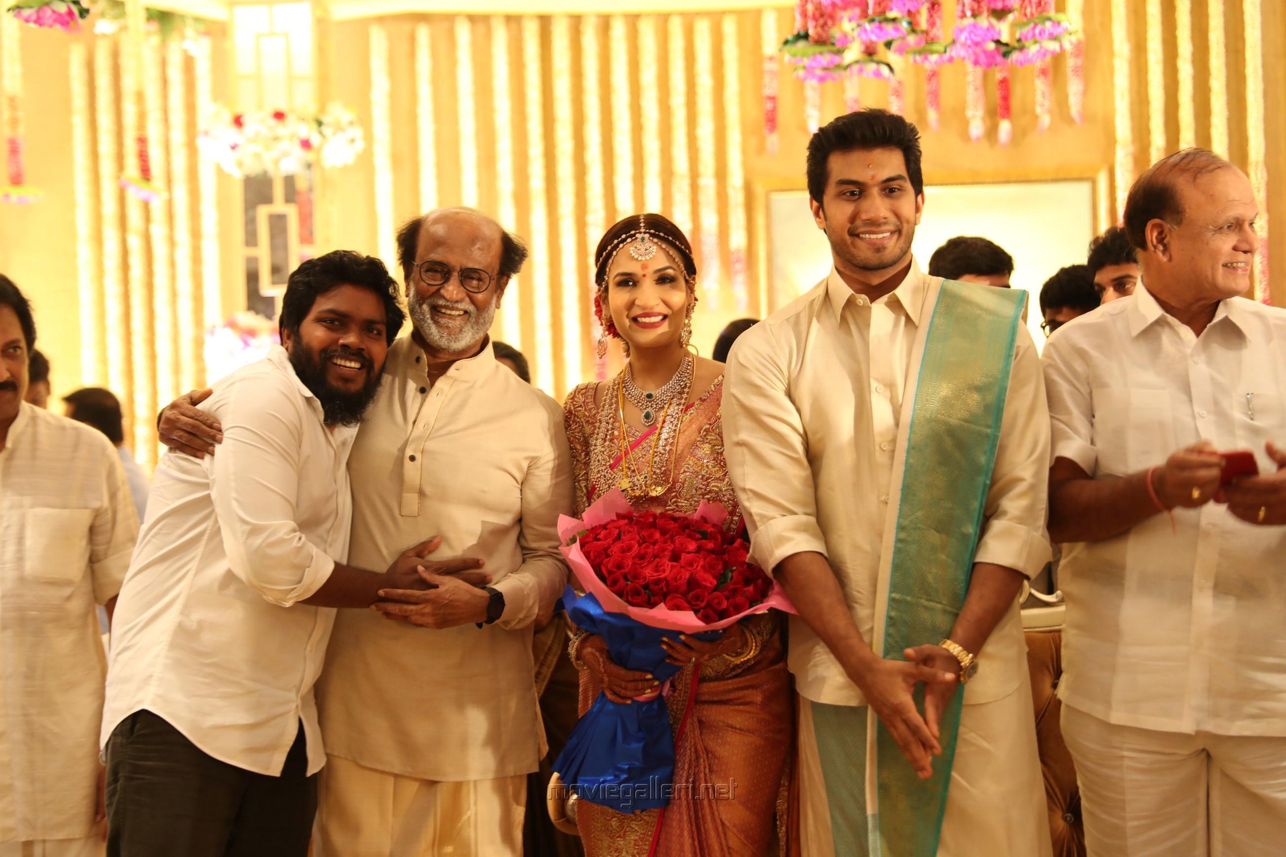 Pa Ranjith @ Vishagan Soundarya Rajinikanth Marriage Photos HD