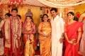 Janaki Devi, Karthi, wife Ranjani @ Vishal sister Aishwarya Marriage Photos