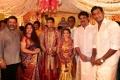 P Vasu, Kushboo, Sundar C @ Vishal sister Aishwarya Marriage Photos