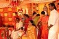 Vishal father GK Reddy, mother Janaki Devi @ Actor Vishal sister Aishwarya Marriage Photos