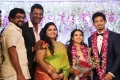 Actor Bose Venkat, wife Sonia @ Vishal sister Aishwarya Wedding Reception Stills