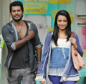 Vishal and Trisha New Movie Stills