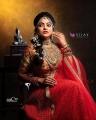 VJ Chithra in Silk Saree Photoshoot Pics