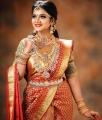 TV Actress VJ Chithra Silk Saree Photoshoot Pics