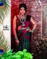 Tamil TV Actress VJ Chithra Silk Saree Photoshoot Pics