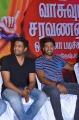 Santhanam, Arya @ Vasuvum Saravananum Onna Padichavanga Press Meet Stills