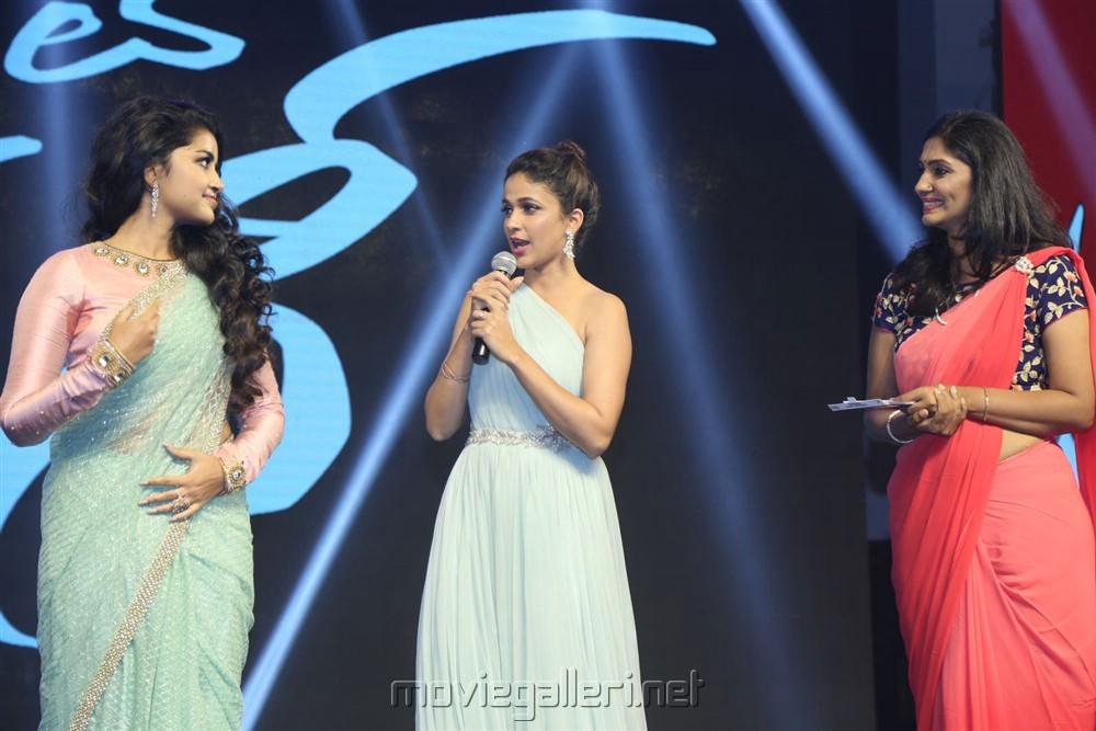 Anupama Parameswaran, Lavanya Tripathi, Jhansi @ Vunnadhi Okate Zindagi Audio Release Photos
