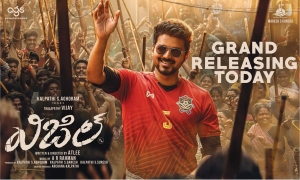 Vijay Whistle Movie Release Today Posters