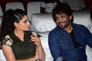 Saiyami Kher, Nagarjuna @ Wild Dog Movie Pre-Release Event Stills
