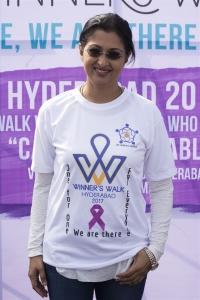 Gautami Tadimalla @ Life Again Foundation Winners Walk with cancer survivors at Jala Vihar Photos