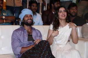 Vijay Devarakonda, Raashi Khanna @ World Famous Lover Grand Release Event Stills
