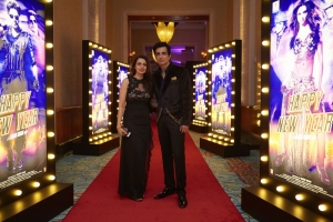 Sonu Sood with Wife @ World Premiere of Happy New Year in Dubai
