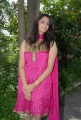 Actress Yashika Stills in Pink Churidar Dress