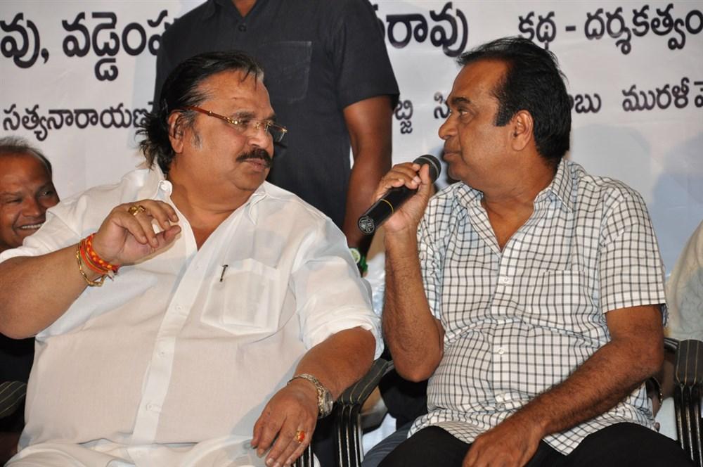 Dasari Narayana Rao, Brahmanandam @ Yeluka Majaka Movie Logo Launch Stills