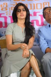 Actress Samantha at Yeto Vellipoyindi Manasu Success Meet Photos