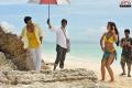 Ram Charan, Amy Jackson in Yevadu Movie Working Stills