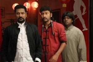 Prabhu Deva, RJ Balaji, Ashwin Raja in Yung Mung Sung Movie Stills