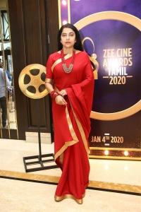 Suhasini Maniratnam @ ZEE Tamil Cine Awards 2020 Press Meet Stills