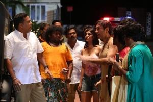 John Vijay, Yogi Babu, Yashika Anand, TM Karthik in Zombie Tamil Movie Stills HD