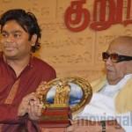 M Karunanidhi Launches AR Rahman World Tamil Conference 2010 Theme Song