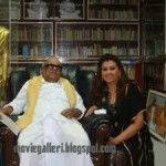 Actress Sona Heiden giving 5 lakhs to TN CM Karunanidhi Stills