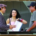 Teen Maar Movie Working Stills, Pawan Kalyan, Trisha