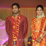 Allu Arjun Sneha Reddy Wedding Reception Stills