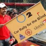 Actor Karthi Flag Off O2 Blind Car Rally Stills