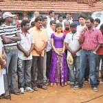 Ajmal, Aparna Bajpai @ Karuppampatti Movie On Location Stills