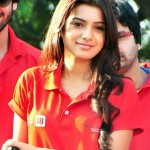 Samantha In Red T shirt Stills, Samantha New Cute Photos, Images