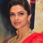 Deepika Padukone Hot Pics in Red Saree
