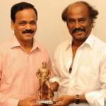 Moser Baer Dhananjayan Visits Rajinikanth Home Stills