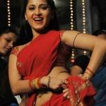 Vaanam Anushka Hot Red Saree Stills