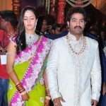 Jr NTR with his WIfe Lakshmi Pranathi at Wedding Reception