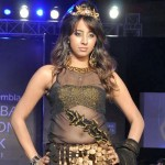 Sanjana Ramp Walk @ Hyderabad Fashion Week 2011